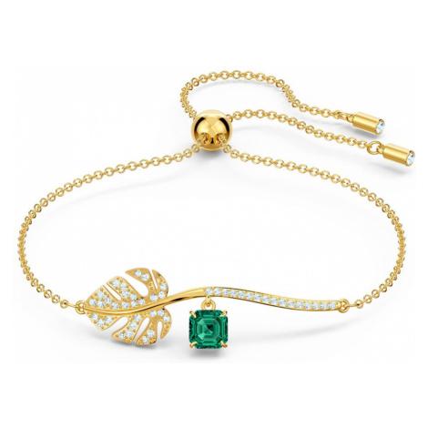 Swarovski Tropical Gold Plated Leaf Bracelet