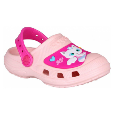 Coqui CROAKY pink - Kids' sandals