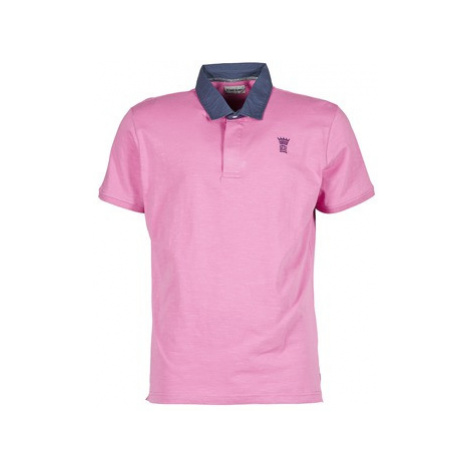 Serge Blanco R COURONNE men's Polo shirt in Pink