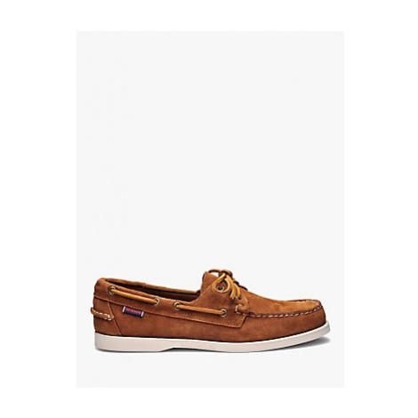 Sebago Dockside Portland Suede Boat Shoes, Brown Cognac