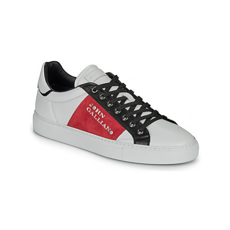 John Galliano 8548 men's Shoes (Trainers) in White