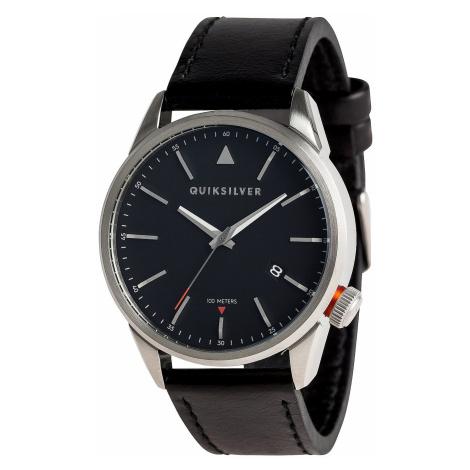 watch Quiksilver The Timebox 42 Leather - XSKK/Silver/Black/Black - men´s