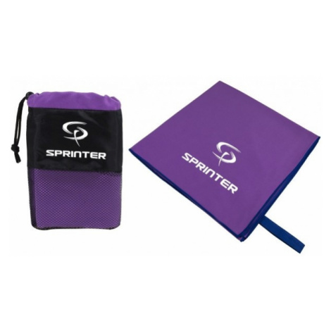 Sprinter RUČNÍK Z MIKROVLÁKNA 100x160CM purple - Microfibre towel