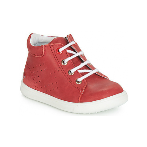 GBB FOLLIO boys's Children's Shoes (High-top Trainers) in Red
