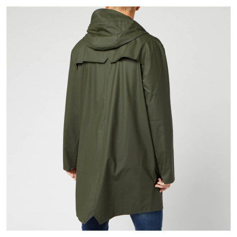 RAINS Men's Long Jacket - Green - M/L