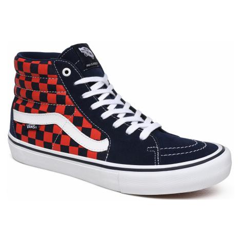 shoes Vans Sk8-Hi Pro - Checkerboard/Navy/Orange - men´s