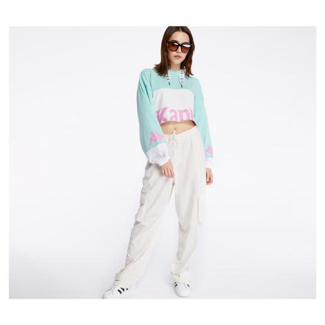 Kappa Authentic Sand Claydee Hoodie Green Aqua/ White/ Pink