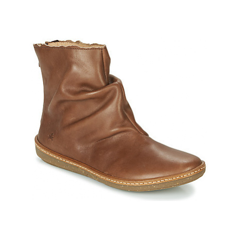 El Naturalista CORAL women's Mid Boots in Brown