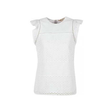 MICHAEL Michael Kors COMBO EYELET S/S women's Blouse in White