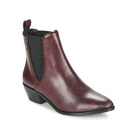 Pepe jeans DINA women's Low Ankle Boots in Bordeaux