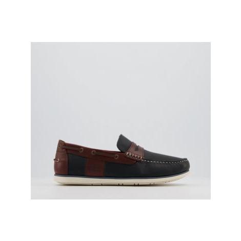Barbour Keel Boat Shoes NAVY BROWN