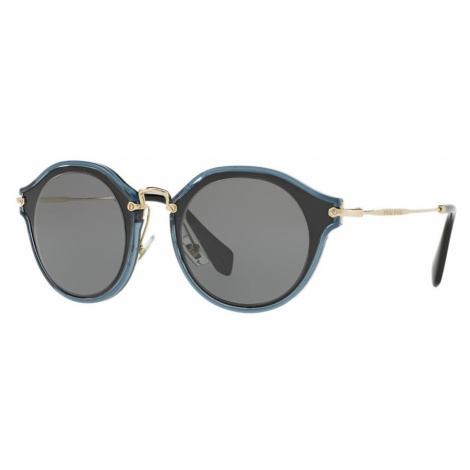 Miu Miu Woman MU 51SS - Frame color: Black, Lens color: Grey-Black, Size 49-23/140