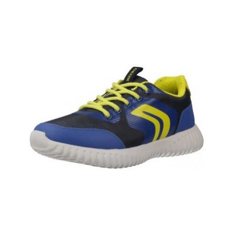 Geox J WAVINESS BOY boys's Children's Shoes (Trainers) in Blue