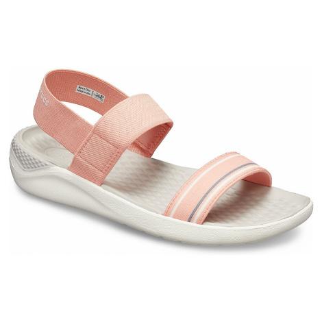 shoes Crocs LiteRide Sandal - Melon/White - women´s