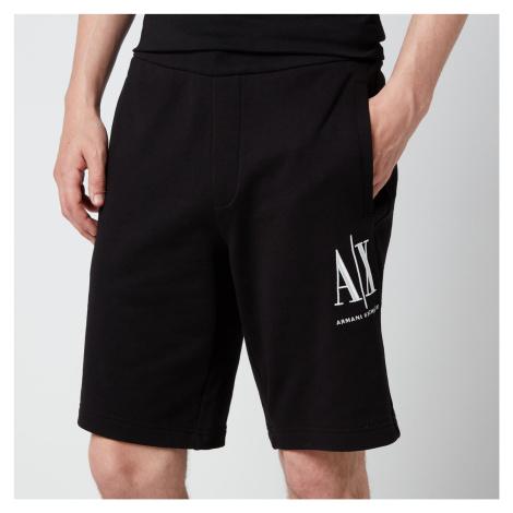 Armani Exchange Men's Ax Logo Sweat Shorts - Black