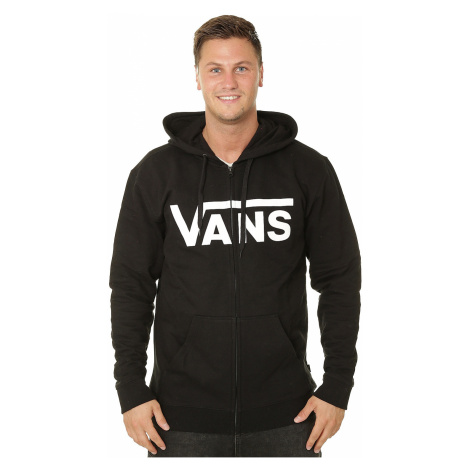 sweatshirt Vans Classic Zip - Black/White - men´s