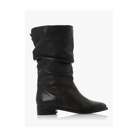 Dune Rosalinda Leather Calf Boots, Black