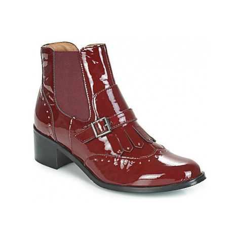 Karston GLEFI women's Low Ankle Boots in Bordeaux
