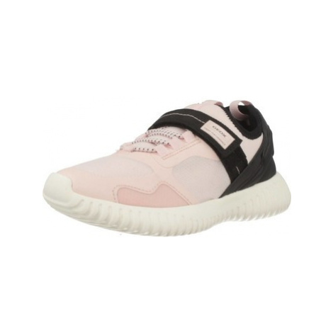 Geox J WAVINESS GIRL girls's Children's Shoes (Trainers) in Pink