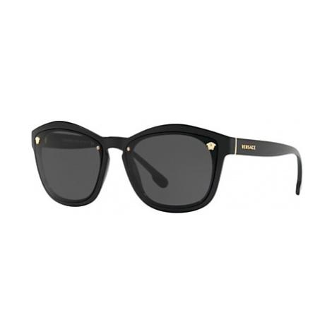 Versace VE4350 Women's Sunglasses, Black/Grey