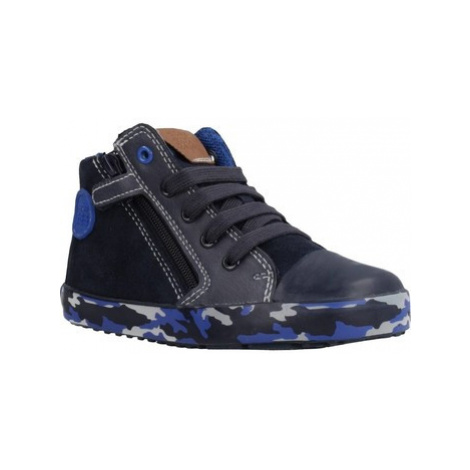 Geox B KILWI BOY boys's Children's Shoes (High-top Trainers) in Blue