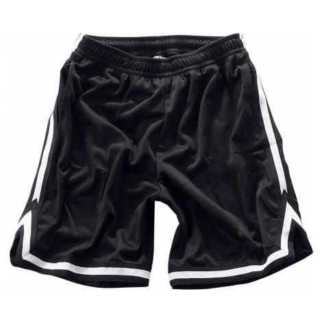 Urban Classics - Stripes Mesh Shorts - Shorts - black-white