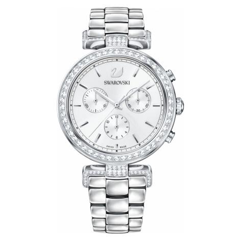 Era Journey Watch, Metal bracelet, White, Stainless steel Swarovski