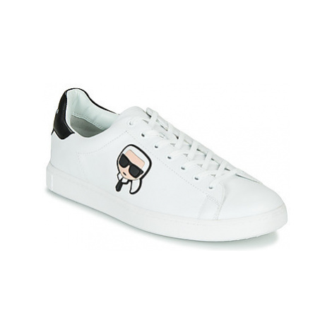 Karl Lagerfeld KOURT KARL IKONIC 3D LACE men's Shoes (Trainers) in White
