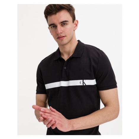 Calvin Klein Horizontal Panel Polo Shirt Black