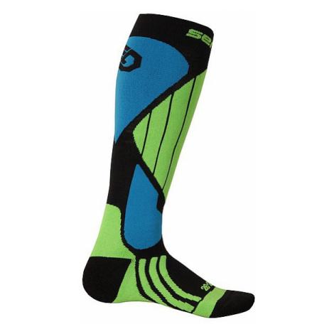socks Sensor Snow Pro - Black/Green/Blue