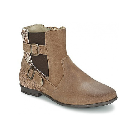 Aster DESIA girls's Children's Mid Boots in Brown
