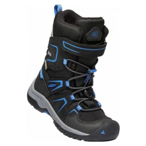 Black boys' winter shoes