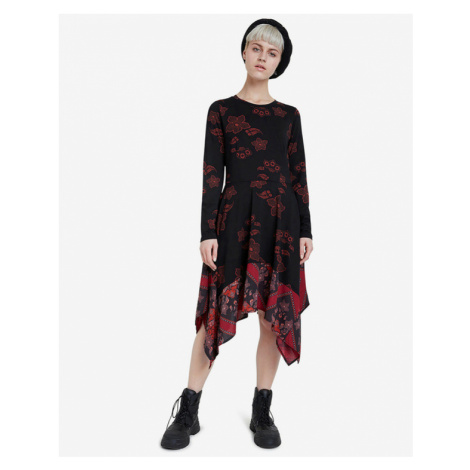 Desigual Chicago Dress Black Red