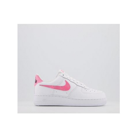 Nike Air Force 1 07 Trainers WHITE SUNSET PULSE BLACK CLEAR