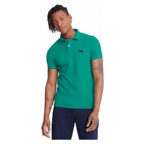 Superdry CLASSIC PIQUE S/S POLO green - Men's polo