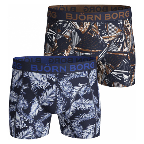 PALMLEAF & LA SKYSKRAPER COTTON STRETCH SHORTS 2-PACK Peacoat Bjorn Borg