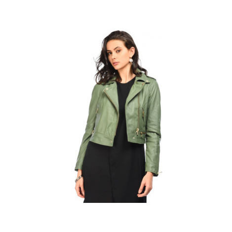 Oakwood Perfecto in sheep leather women's Leather jacket in Green