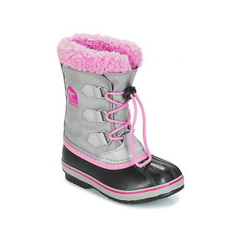 Sorel YOOT PAC™ NYLON girls's Children's Snow boots in Grey