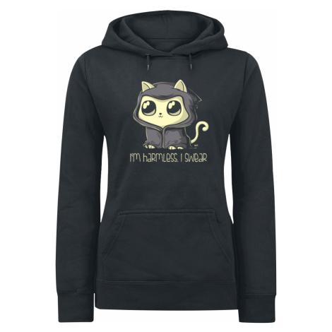 I'm Harmless. I Swear - - Girls hooded sweatshirt - black