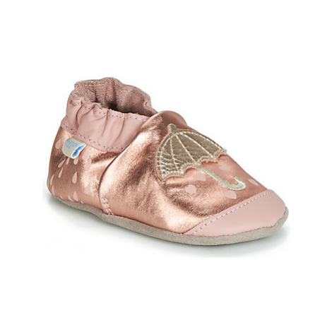 Robeez LOVING RAIN girls's Baby Slippers in Pink