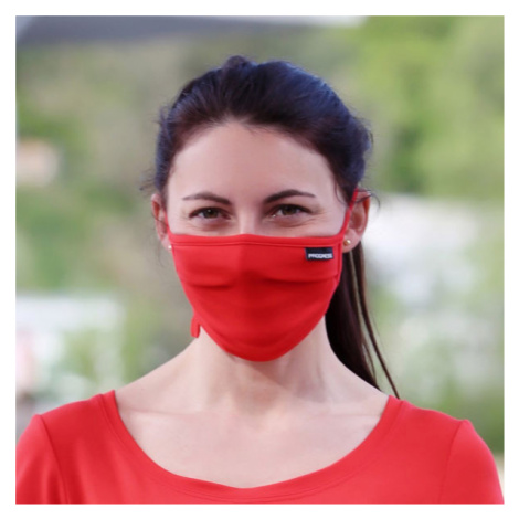 Progress MASK LITE red - Bamboo mask with a pocket