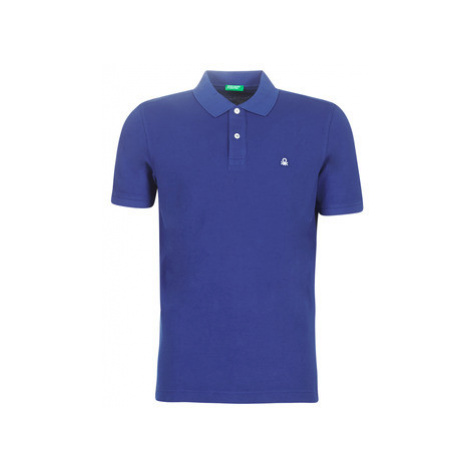 Benetton MEZIER men's Polo shirt in Blue United Colors of Benetton