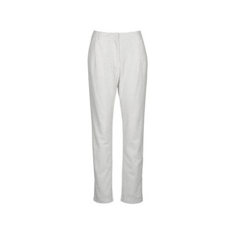 Manoush FLOWER BADGE women's Trousers in White