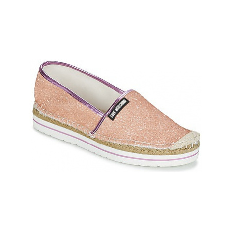 Love Moschino MONICA women's Espadrilles / Casual Shoes in Pink