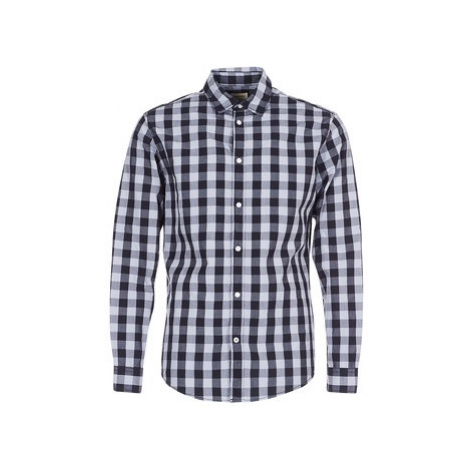 Jack Jones JJEGINGHAM men's Long sleeved Shirt in Grey Jack & Jones