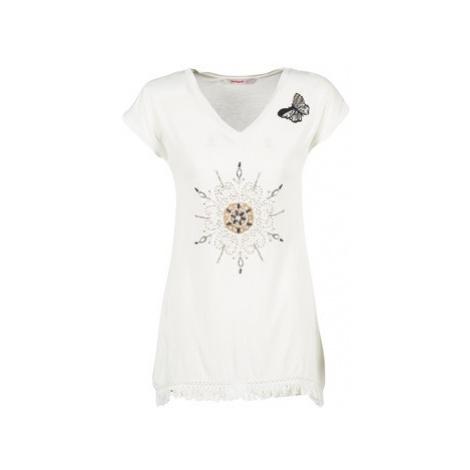 Desigual GRIZALLO women's T shirt in White