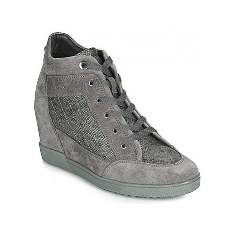 Geox D CARUM women's Shoes (High-top Trainers) in Grey
