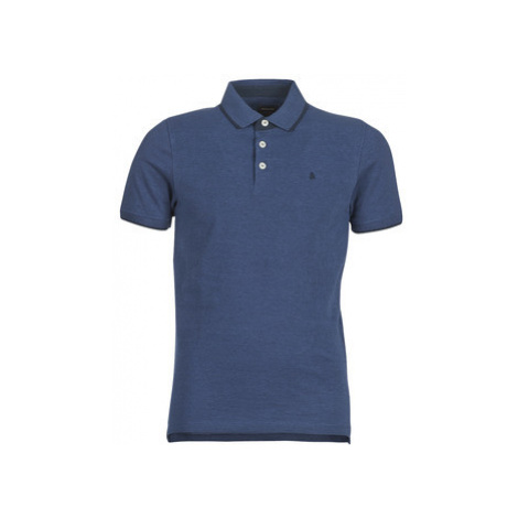 Jack Jones JJEPAULOS men's Polo shirt in Blue Jack & Jones