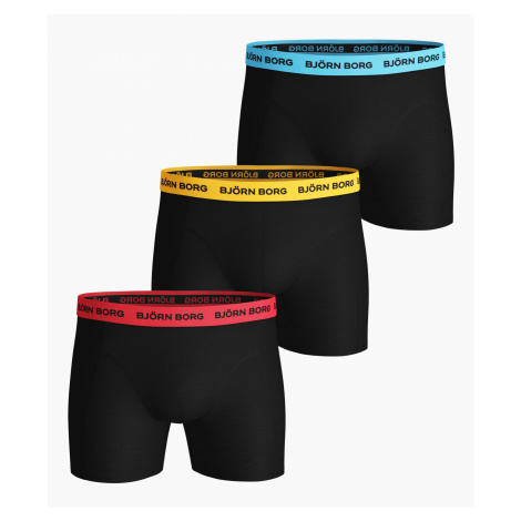 NEON SOLID ESSENTIAL SHORTS 3-PACK Black Beauty Bjorn Borg