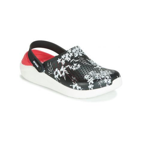 Crocs LITERIDE HYPER FLORAL CLOG women's Clogs (Shoes) in Black